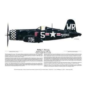 F4U 5 Marine Corsair, Phillip DeLong   Ernie Boyette   World War II