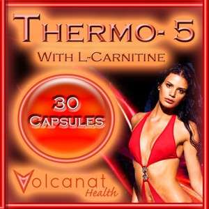 30 PILLS THERMO 5 WITH L CARNITINE DIET ENERGY FAT BURNER + WEIGHTLOSS