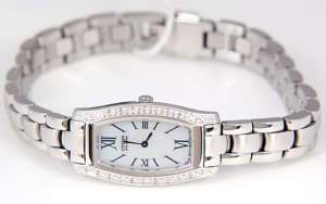 WOMENS CITIZEN ECO DRIVE MOTHER OF PEARL DIAL DIAMOND DRESS WATCH