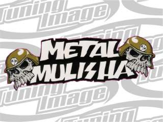 PEGATINA VINILO STICKER TUNING HELLA FLUSH MOTO metal mulisha