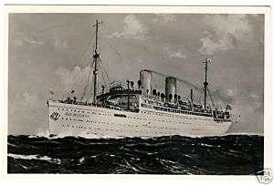 Schiff DER DEUTSCHE Foto AK 1936 Schiffspost