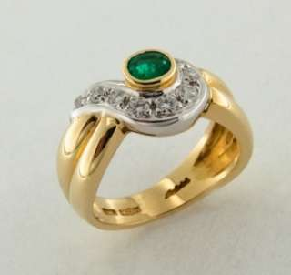 ring with diamonds and emerald price 1 490 the ring is accompanied by