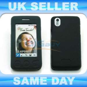 BLACK SILICONE RUBBER CASE COVER FOR LG KP500 COOKIE
