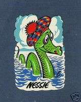 20 Loch Ness Monster, Cartoon Nessie, Decals Transfers