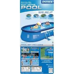 Intex 57981EG 20 Feet by 12 Feet by 48 Oval Frame Pool Set