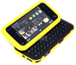 YELLOW HYBRID HARD COVER RUBBER CASE FOR NOKIA N97 MINI