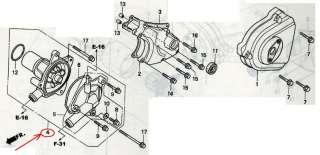 HONDA HORNET CB250F MC31 MC14E, OEM WATER PUMP ASSY, PN: 19200 KEA 000
