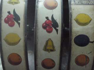 Antique 1910 Slot Machine Lotto Wheel Mills Novelty Company Bell Fruit