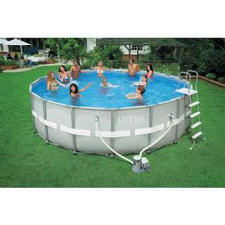 Intex 18 foot x 52 inch Round Ultra Frame Pool   Intex Recreation