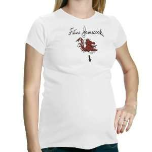 Ladies White Future Gamecock Maternity T shirt Sports & Outdoors