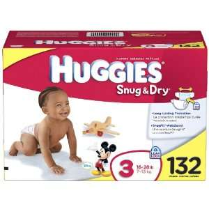Huggies Snug & Dry Diapers Value Pack Size 3 Baby