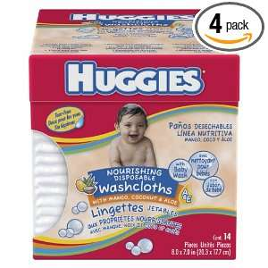 Huggies Nourishing Disposable Washcloths with Mango, Coconut, and Aloe