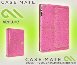 MATE PINK LEATHER VENTURE CASE STAND FOR iPAD 2 0846127035392