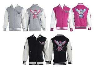 B35 NEW GIRLS COLLEGE BASEBALL JACKET TOP SIZE: 3 12