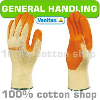 12 Venitex Safety Knitted Latex Palm Work Gloves Hand Protection