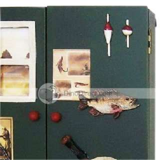 Wholesale Double Door Design Fishing Pattern Multifunction Wood Key