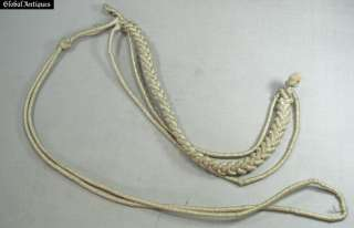 WW2 GERMAN ALLY OFFICER SILK PARADE UNIFORM AIGUILLETTE