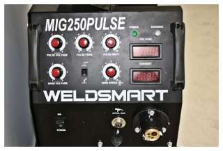 WeldSmart 250 Amp PULSE Mig & MMA GAS GASLESS (3 PHASE) Inverter ARC
