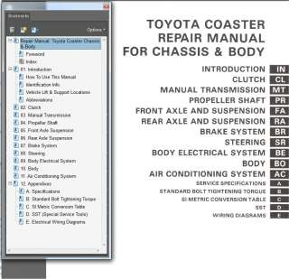 TOYOTA COASTER 1982 1988 REPAIR SERVICE WORKSHOP MANUAL RB20 PETROL