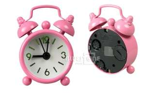 Mini Women Girl Cute Lovely Desk Table Alarm Clock Pink