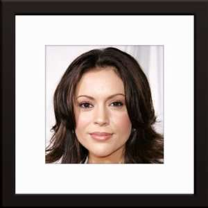 Alyssa Milano Custom Framed And Matted Color Photo