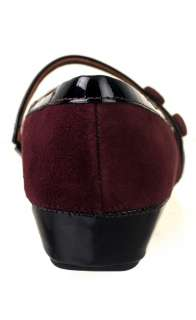 Clarks Womens Mary Jane Shoes Concert Hall Burgundy Suede 31350