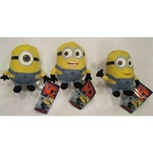 The Movie Minions 6 Inch Plush Doll Toy Set Dave Jorge Stewart Stuart
