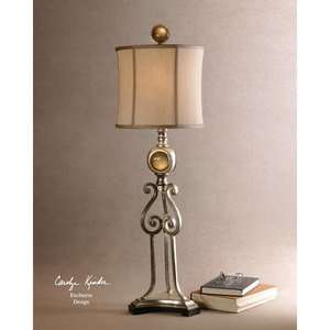 Uttermost Denise Buffet Lamp in Antiqued Silver: Home