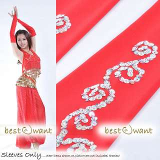 Free Ship Belly Dance Arm Hand Sleeves Gloves Costume