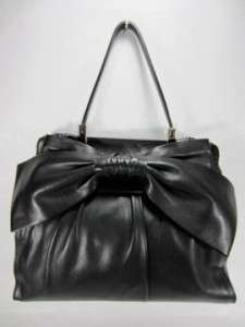 NEW VALENTINO Black APHRODITE Nappa LEATHER Top Handle Shopper Bag