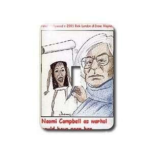Londons Times Funny Panel Hollywood Cartoons   Naomi Campbell