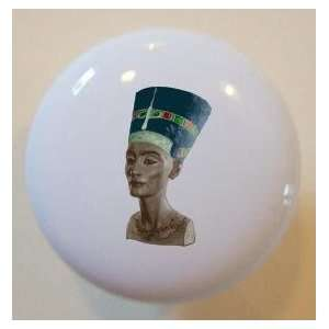 Nefertiti Egyptian Queen Ceramic Cabinet Drawer Pull Knob