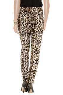 Elson tapered animal print silk crepe pants   55% Off Now at