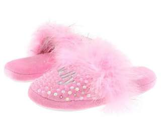 Lelli Kelly girls Sparkle Slippers fur Sequin Shoes Light Pink NEW
