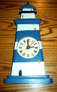 Nice Hand Painted Primitive Art Blue/White Stripe Day Markings