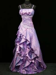 Cherlone Plus Size Satin Light Purple Boho Lace Gown Wedding/Evening