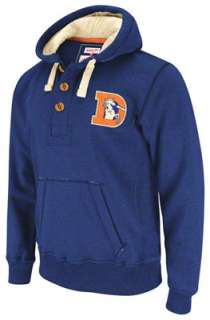 Denver Broncos Mitchell & Ness Heathered NFL Playmaker Hoody