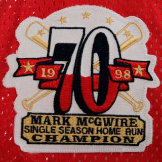 Mark McGwire St. Louis Cardinals Red Replica Jersey (X Large)