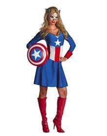 Captain America American Dream Adult Womens Costume