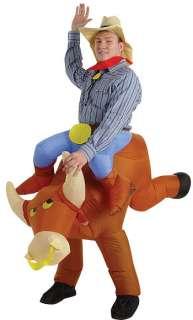 Inflatable Illusion Bull Rider Costume  Comical Costumes