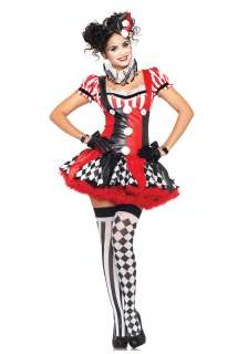 Naughty Harlequin Clown Costume   Sexy Jester Clown Costumes