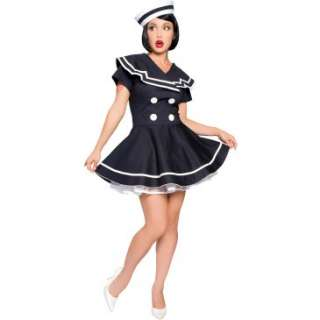 Pin Up Captain Adult Plus Costume, 61798