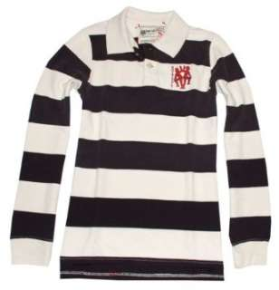 Royal Cult Mens Vintage Striped Logo Polo T Shirt