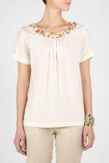 Moschino Cheap & Chic  Silk Embelished Blouse by Moschino Cheap
