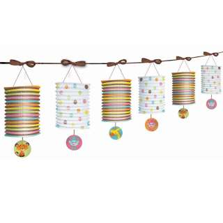 Paper Lantern Garland   Includes 1 Baby Shower Paper Lantern Garland