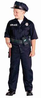 Police Officer Child Costume   Includes top, pants. Does not include