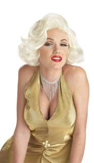 Classic Marilyn Monroe Wig   Includes blonde wig. Dress and jewelry