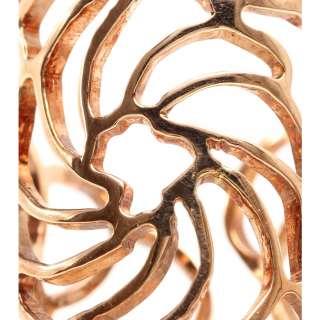 Ileana Makri   18KT PINK GOLD LACE RING   Luxury