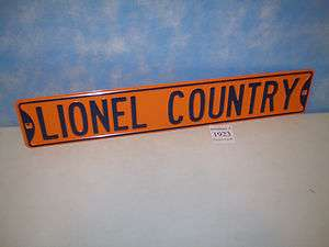 NEW Lionel Road Sign  Lionel Country  32 Inches Long Orange and Blue