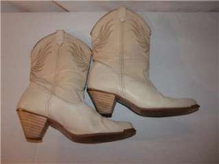 Womens Vintage DINGO Beige Leather Western Cowboy Boots 8